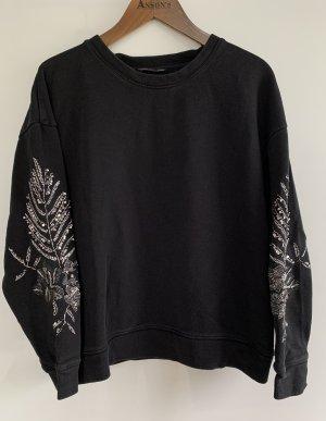 Pullover von Zara mit Bestickung, M