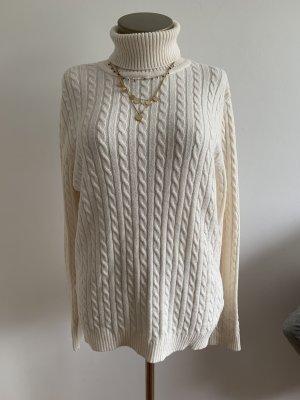 Pullover weiß Rollkragen