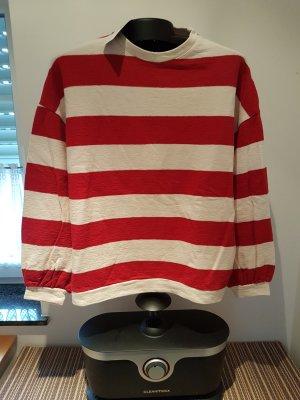 Pullover weiß rot gestreift Mango Gr. M