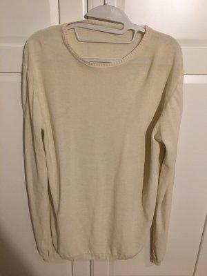 Pullover weiß rundhals - oversize