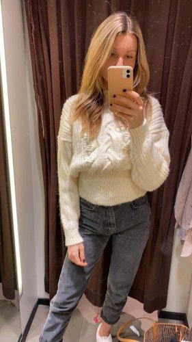 Pullover weiß Strickpullover