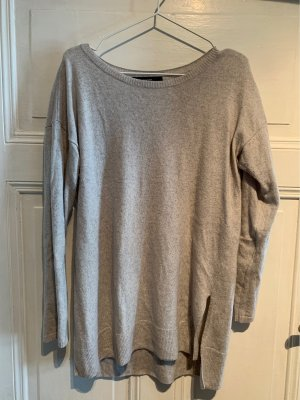 Hallhuber Pull en laine gris clair-argenté