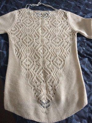 Pullover Wolle Oberteil beige, Gr.L, von Bianca D, made in Italy