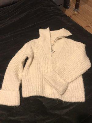 Pullover Wolle weiß XS Premium