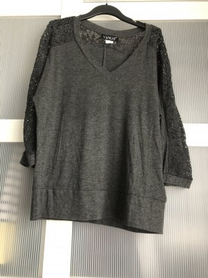 Pullover XS grau schwarz