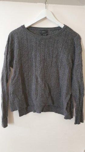 Zara Cárdigan de punto fino gris claro-gris