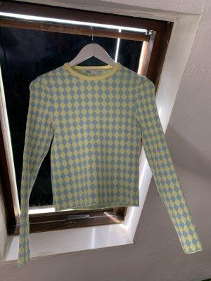 Pullover Zara gelb blau Pastell