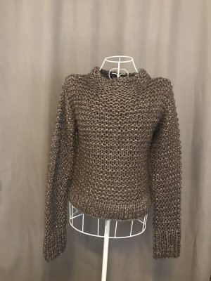 Zara Knit Coarse Knitted Sweater bronze-colored
