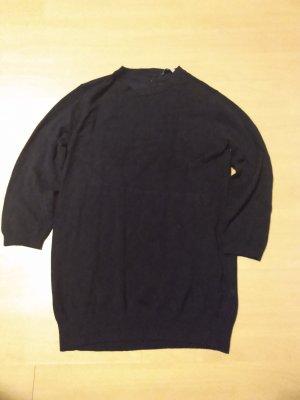 Pullover Zara Knit O Neck Dunkelblau Gr. M (fällt eher aus wie S) mit Perlenköpfen hinten 3/4-Arm