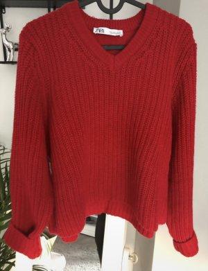 Pullover Zara rot