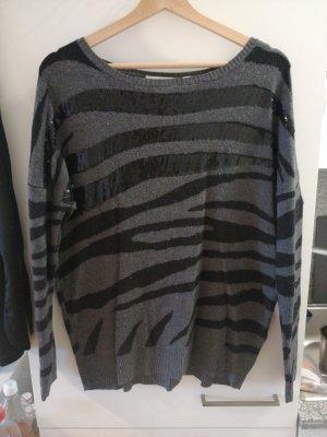 Charles Vögele Maglione di lana nero-grigio scuro
