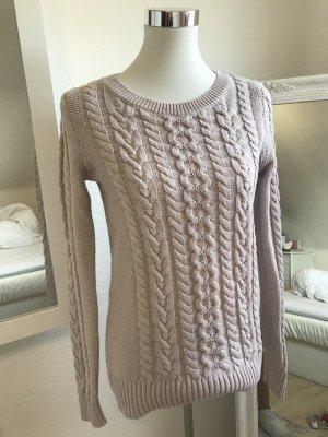 Gap Warkoczowy sweter stary róż