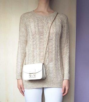 Pullover Zopfmuster Beige H&M Gr. S