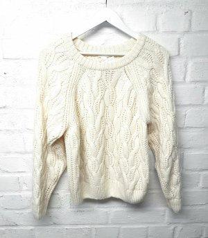 H&M Warkoczowy sweter Wielokolorowy Poliakryl