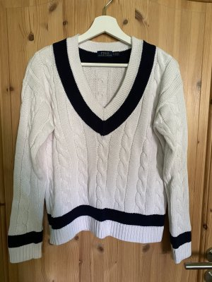 Polo Ralph Lauren Cable Sweater white-dark blue