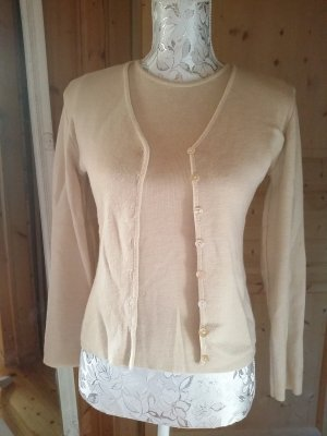 Sweater Twin Set cream-beige merino wool