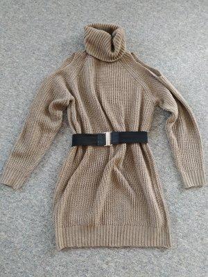 Swetrowa sukienka jasnobrązowy