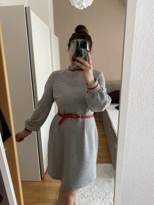 C&A Abito maglione rosso-grigio