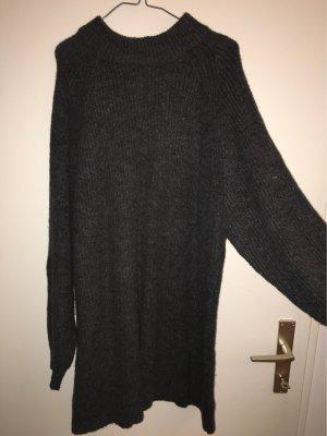 Pull & Bear Swetrowa sukienka antracyt