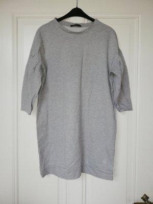 Violeta by Mango Vestido tipo jersey gris claro