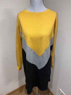 Noisy May Sweaterjurk zwart-geel
