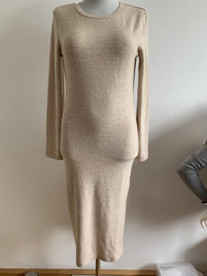 Pulloverkleid beige