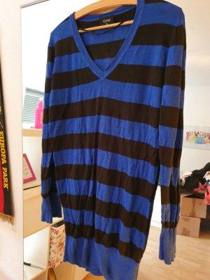 Robe pull noir-bleu