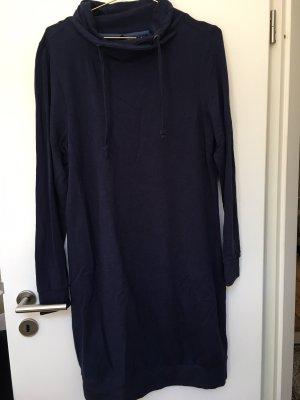 B.fashion Swetrowa sukienka ciemnoniebieski-niebieski neonowy