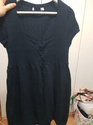 Vestido tipo jersey azul oscuro