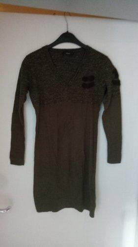 Diesel Swetrowa sukienka ciemnoszary-oliwkowy