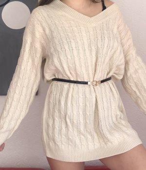 SheIn Sweater Dress cream