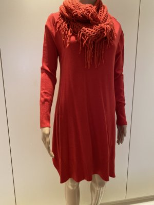 Robe pull rouge brique