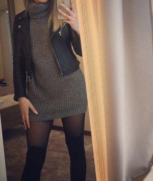 Sweaterjurk grijs-donkergrijs