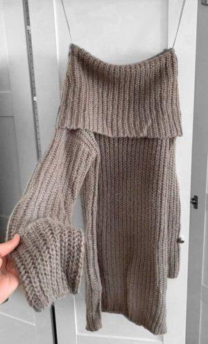 Brave Soul Swetrowa sukienka szary-ciemnoszary