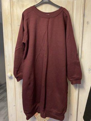 Pull & Bear Sweater Dress bordeaux-carmine