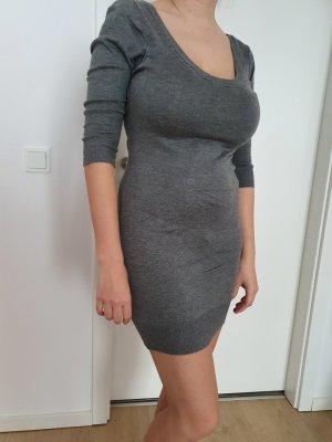Pulloverkleid Minikleid 3/4 Arm - grau - Gr. S