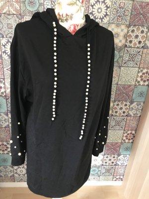 SheIn Jersey largo negro-blanco