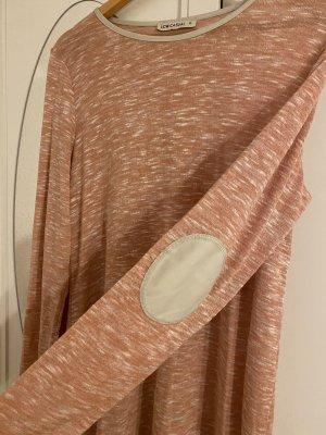 LC Waikiki Sweater Dress light pink-natural white