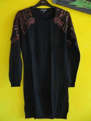Pulloverkleid mit Pailettendetail