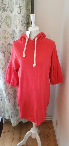Bershka Swetrowa sukienka czerwony