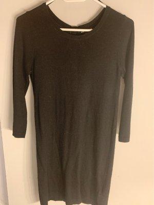 H&M Vestido tipo jersey negro
