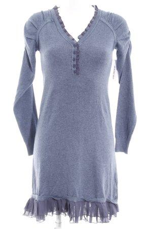Swetrowa sukienka stalowy niebieski-chabrowy W stylu casual