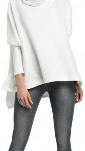 Jersey con capucha blanco tejido mezclado