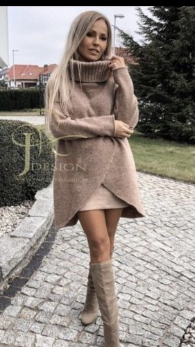 Italia Moda Jersey largo crema