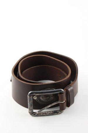 Ledergürtel bronzefarben Casual-Look