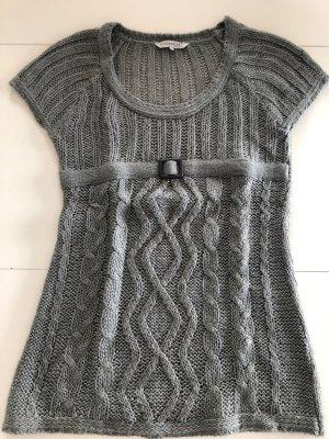 Clockhouse Sweter bez rękawów z cienkiej dzianiny szary