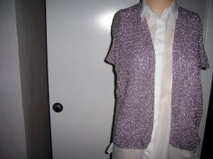 Fine Knitted Cardigan blue violet