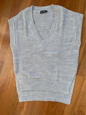 Tally Weijl Sweter bez rękawów z cienkiej dzianiny jasnoszary