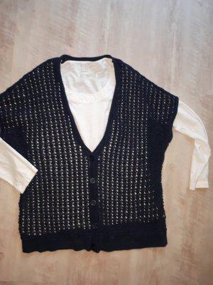Ambria Szydełkowany sweter ciemnoniebieski