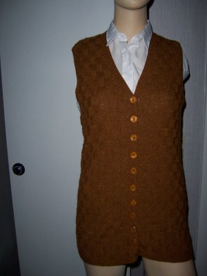 Fine Knitted Cardigan brown